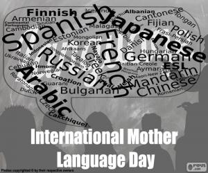 International Mother Language Day puzzle