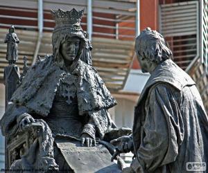 Isabel la Católica and Columbus puzzle