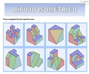 Isometric drawings puzzle