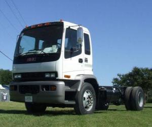Isuzu FTR truck puzzle