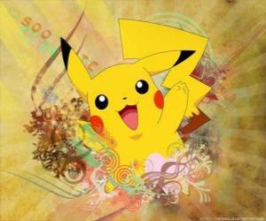 It's a mouse pokémon yellow, electric type. puzzle