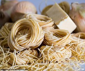 Italian pasta, spaghetti puzzle