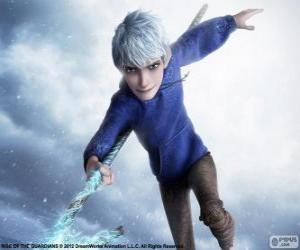 Jack Frost, is a supernatural being. Character from Rise of the Guardians puzzle