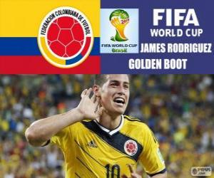 James Rodriguez, golden boot. Brazil 2014 Football World Cup puzzle