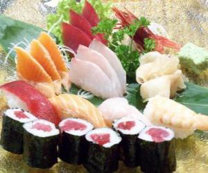Japanese cuisine Sushi puzzle