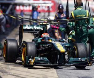 Jarno Trulli - Lotus - Barcelona 2011 puzzle