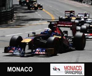 Jean-Eric Vergne - Toro Rosso - Monte-Carlo 2013 puzzle