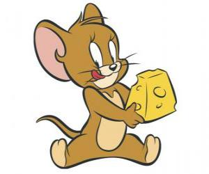 Jerry eating a delicious piece of cheese puzzle