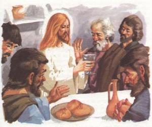 Jesus blessed the Bread and Wine at the Last Supper puzzle