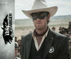 John Reid (Armie Hammer) in the film The Lone Ranger puzzle