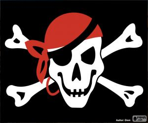 Jolly Roger pirate flag puzzle