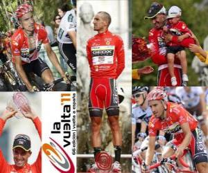 Juanjo Cobo (GEOX) champion of the Tour of Spain 2011 puzzle