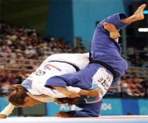 Judo - Two jūdōkas practicing puzzle