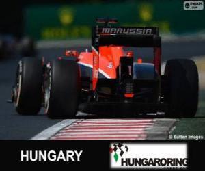Jules Bianchi - Marussia - Hungaroring, 2013 puzzle