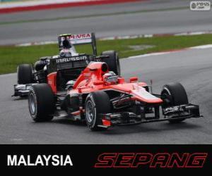Jules Bianchi - Marussia - Sepang 2013 puzzle