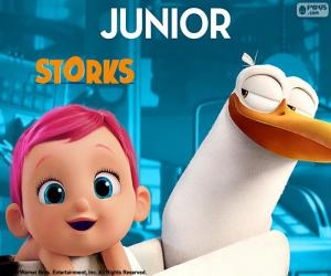 Junior, the protagonist Stork puzzle