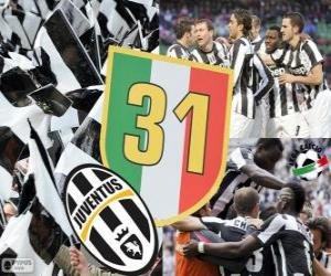 Juventus Turin, champion Serie A  Lega Calcio 2012-2013, Football Italian League puzzle