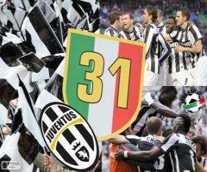 Juventus Turin, champion Serie A  Lega Calcio 2012-2013, Football Italian League puzzle