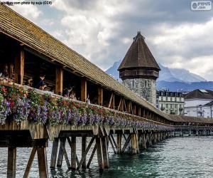 Kapellbrücke, Switzerland puzzle