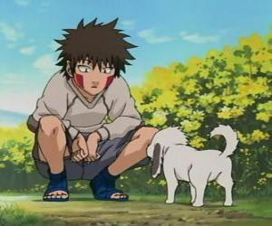 Kiba Inuzuka and his dog and best friend Akamaru are part of Team 8 puzzle