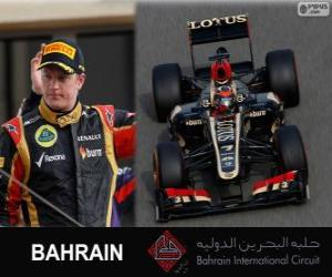Kimi Räikkönen - Lotus - 2013 Bahrain Grand Prix, 2º classified puzzle