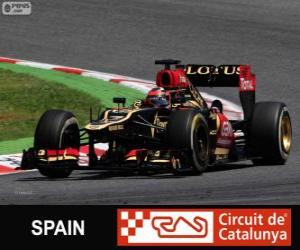 Kimi Räikkönen - Lotus - 2013 Spanish Grand Prix, 2º classified puzzle