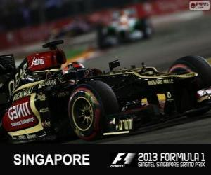 Kimi Räikkönen - Lotus - 2013 Singapore Grand Prix, 3rd classified puzzle