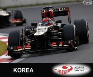 Kimi Räikkönen - Lotus - 2013 Korean Grand Prix, 2º classified puzzle