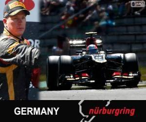 Kimi Räikkönen - Lotus - 2013 German Grand Prix, 2º classified puzzle