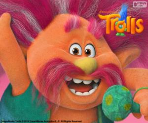King Peppy, leader of the Trolls puzzle
