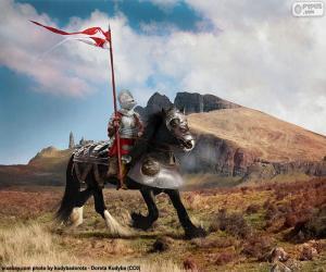 Knight on horseback puzzle