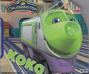 Koko, electric locomotive from Chuggington puzzle