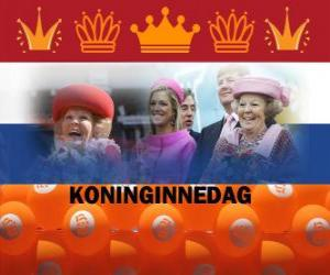 Koninginnedag or Queen's Day, national holiday in the Netherlands on april 30th to celebrate the birthday of the Queen puzzle