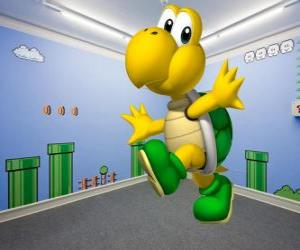 Koopa Troopa, bipedal turtles are enemies in the Mario games puzzle