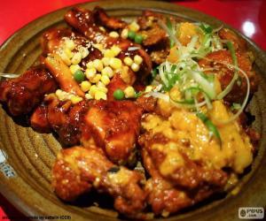 Korean style chicken puzzle