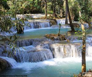 Kuang Si Falls, Laos puzzle