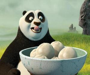 Kung Fu Panda wants to eat some biscuits made of rice puzzle