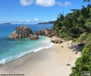 La Digue, Seychelles puzzle