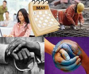 Labor Day, International Workers Day or May Day is the global holiday of the labor movement. Held on May 1 in many countries puzzle