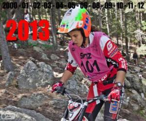 Laia Sanz, champion of the world of trial 2013 puzzle