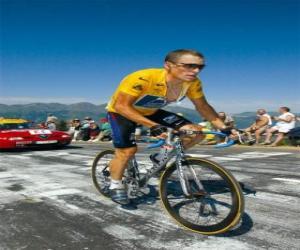Lance Armstrong climbing a mountain puzzle