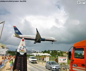 Landing in Saint Martin puzzle