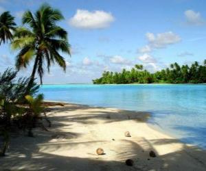 Landscape of a tropical island puzzle