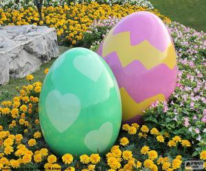 Large Easter eggs puzzle