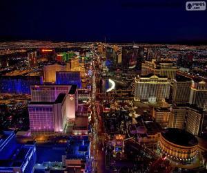 Las Vegas at night, United States puzzle