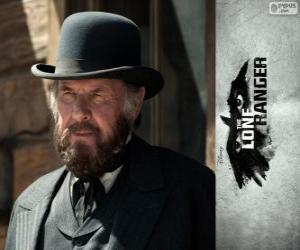 Latham Cole (Tom Wilkinson) in the film The Lone Ranger puzzle
