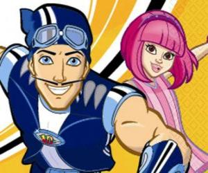 LazyTown, Sportacus and Stephanie puzzle
