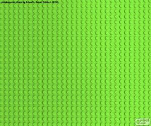 Lego Green Baseplate puzzle