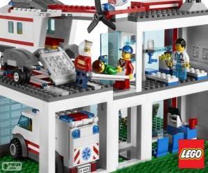 Lego hospital puzzle