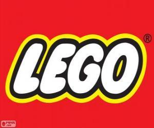 Lego logo, construction toys puzzle